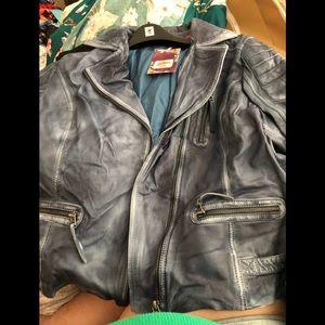 100% sheep leather jacket